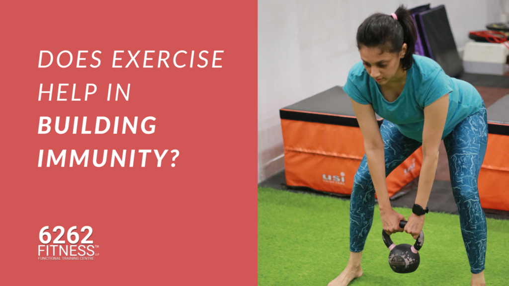 Does exercise help in building immunity?